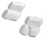 Menubox  na jídlo -  box 2- dílný bílý ( 125 ks v balení )